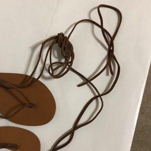 74a52694bde1 Steve Madden Shoes - Steve Madden Walkitt Lace-Up-Leg Sandals